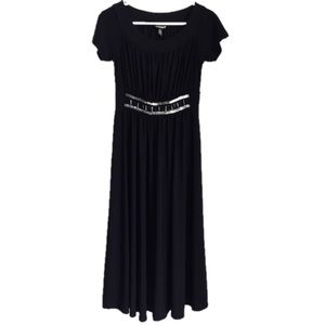 Haani black embellished waist maxi dress size S